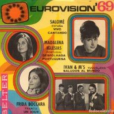 Discos de vinilo: EUROVISIÓN´69 - EP 1969 BELTER MADE IN SPAIN. Lote 192257620