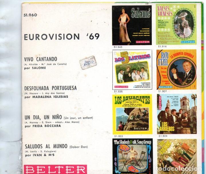 Discos de vinilo: EUROVISIÓN´69 - EP 1969 BELTER MADE IN SPAIN - Foto 2 - 192257620