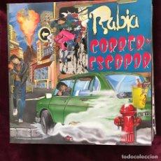 Discos de vinilo: RABIA - CORRER Y ESCAPAR - LP LA ROSA 1991. Lote 192264108