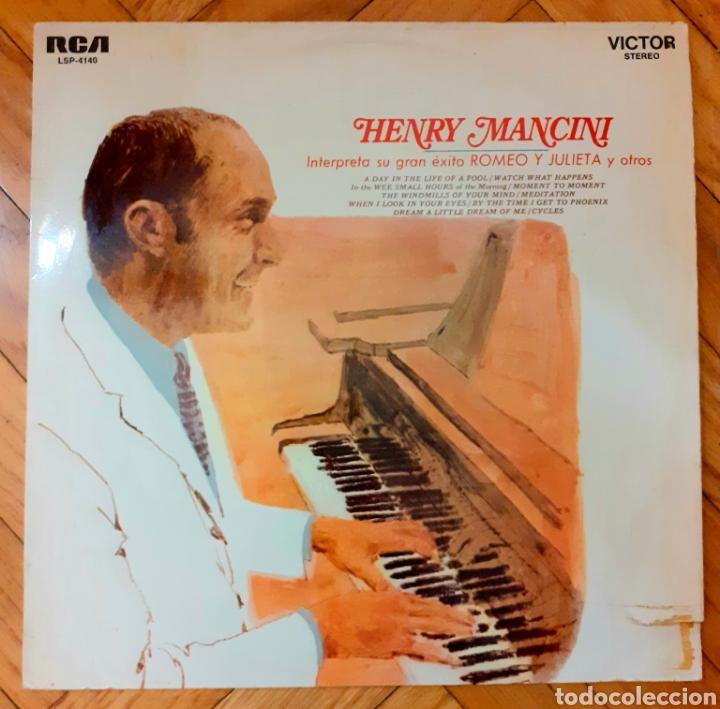LP HENRY MANCINI, PIANO SOLISTA CON COROS. INTERPRETA SU GRAN ÉXITO ROMEO Y JULIETA Y OTROS (Música - Discos - LP Vinilo - Jazz, Jazz-Rock, Blues y R&B)