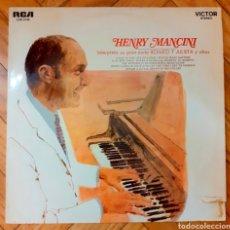 Discos de vinilo: LP HENRY MANCINI, PIANO SOLISTA CON COROS. INTERPRETA SU GRAN ÉXITO ROMEO Y JULIETA Y OTROS. Lote 192274341