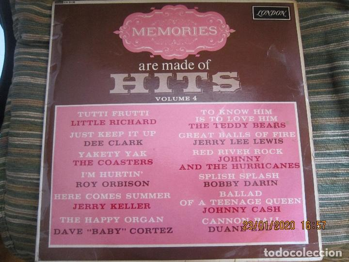 MEMORIES ARE MADE OF HITS VOLUME 4 LP - ORIGINAL INGLES - LONDON RECORDS 1963 - MONOAURAL (Música - Discos - LP Vinilo - Rock & Roll)