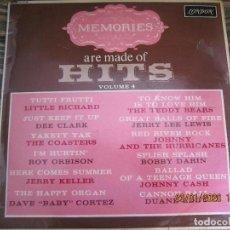Discos de vinilo: MEMORIES ARE MADE OF HITS VOLUME 4 LP - ORIGINAL INGLES - LONDON RECORDS 1963 - MONOAURAL. Lote 192278361
