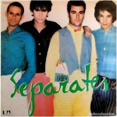 Discos de vinilo: 999 (NINE, NINE, NINE) - SEPARATES - LP SPAIN 1979 - UNITED ARTISTS RECORDS 10C064-061.897. Lote 215730892