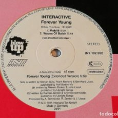 Discos de vinilo: INTERACTIVE - FOREVER YOUNG - 1994. Lote 192287568