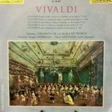 Discos de vinilo: VIVALDI. CAUDAL CLÁSICO M. 50-007 CINCO CONCIERTOS 1965. Lote 112719479