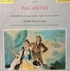 Discos de vinilo: PAGANINI. CAUDAL CLÁSICO M50-019. Lote 112720047