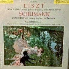 Discos de vinilo: FRANZ LISZT Y ROBERT SCHUMANN. CAUDAL CLÁSICO M50-036 CONCIERTOS PARA PIANO Y ORQUESTA. Lote 112721087