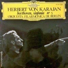 Discos de vinilo: BEETHOVEN, SINFONIA Nº5 POR HERBERT VON KARAJAN. Lote 112721907