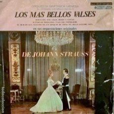 Discos de vinilo: LOS MAS BELLOS VALSES. DE JOHANN STRAUSS. SERIE GRAN DIFUSIÓN 3007. Lote 112906315