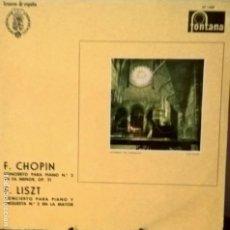 Discos de vinilo: F.CHOPIN Y F.LISTZ CONCIERTOS PARA PIANO. SERIE TESOROS DE ESPAÑA SP1007. Lote 112908015