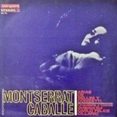 Discos de vinilo: MONTSERRAT CABALLÉ. ARIAS DE BELLINI Y DONIZETTI. VERGARA 814 STL. Lote 112909187