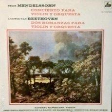 Discos de vinilo: MENDELSON Y BEETHOVEN. CONCIERTO PARA VIOLIN Y ORQUESTA. DIM DS-122. Lote 112912519