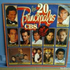 Discos de vinilo: LP LOS 20 PRINCIPALES CBS/JULIO IGLESIAS EL PUMA BOSE. Lote 192311586