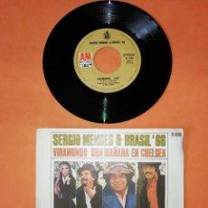 Discos de vinilo: SERGIO MENDES & BRASIL 66. VIRAMUNDO. UNA MAÑANA EN CHELSEA. AM RECORDS 1971.. Lote 192317982