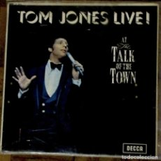 Discos de vinilo: TOM JONES LIVE. MONO. DECCA, LK 4874. ENGLAND, 1967.. Lote 192330926