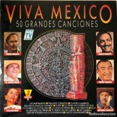 Discos de vinilo: VIVA MEXICO, TRIPLE LP LAS 50 BEST RANCHERAS. HITS. Lote 192339125