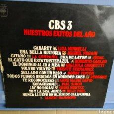 Discos de vinilo: LP NUESTROS ÉXITOS DEL AÑO CBS 3/BILLY PAUL REDBONE BOBBY VINTON. Lote 192339280