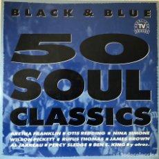 Discos de vinilo: 50 SOUL CLASSICS, TRIPLE LP HITS SOUL. Lote 205119012