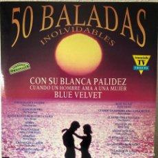 Discos de vinilo: LAS 50 BALADAS INOLVIDABLES HITS. Lote 192340731
