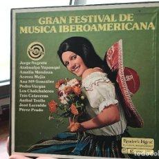 Discos de vinilo: GRAN FESTIVAL MUSICA IBEROAMERICANA (9 DISCOS). Lote 192350728