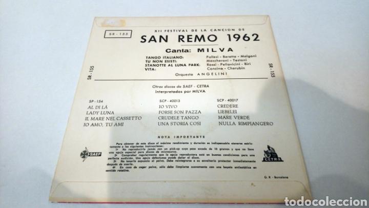 Discos de vinilo: Milva–XII Festival De La Cancion De San Remo 1962 . Ep. - Foto 2 - 192367755