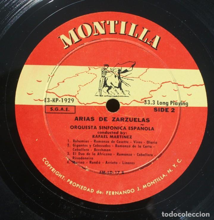 Discos de vinilo: DISCO ALBUM: ARIAS DE ZARZUELAS ORQUESTA SINFONICA ESPAÑOLA DIRECTOR RAFAEL MARTINEZ - MONTILLA - Foto 2 - 203723761
