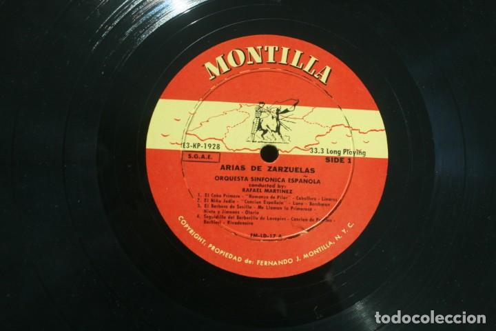 Discos de vinilo: DISCO ALBUM: ARIAS DE ZARZUELAS ORQUESTA SINFONICA ESPAÑOLA DIRECTOR RAFAEL MARTINEZ - MONTILLA - Foto 3 - 203723761