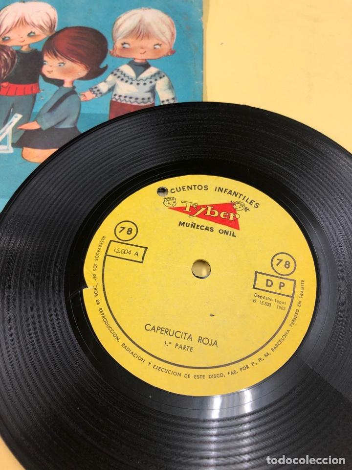 Discos de vinilo: DISCO VINILO CAPERUCITA ROJA - CUENTOS INFANTILES TYBER - MUÑECAS ONIL - PERFECTO ESTADO - Foto 2 - 192381128