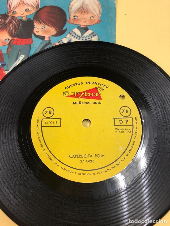 Discos de vinilo: DISCO VINILO CAPERUCITA ROJA - CUENTOS INFANTILES TYBER - MUÑECAS ONIL - PERFECTO ESTADO - Foto 3 - 192381128