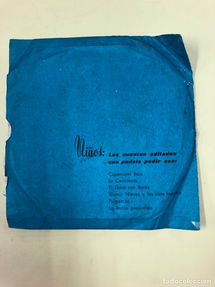 Discos de vinilo: DISCO VINILO CAPERUCITA ROJA - CUENTOS INFANTILES TYBER - MUÑECAS ONIL - PERFECTO ESTADO - Foto 4 - 192381128