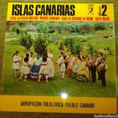 Discos de vinilo: AGRUPACIÓN PUEBLO CANARIO - VIVA LA FIESTA MAYOR + 3. Lote 192384625
