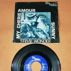 Discos de vinilo: STEVIE WONDER. MY CHERIE AMOUR. SUNNY. TAMLA MOTOWM. 1969. Lote 192417478