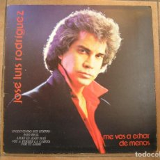 Discos de vinilo: JOSE LUIS RODRIGUEZ - ME VAS A ECHAR DE MENOS - LP - PR. Lote 192446466