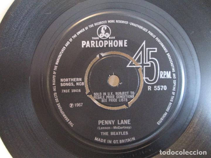 Discos de vinilo: Vinilo Single The Beatles ‎– Strawberry Fields Forever / Penny Lane, 1967, Made in GT. BRITAIN - Foto 3 - 192451426