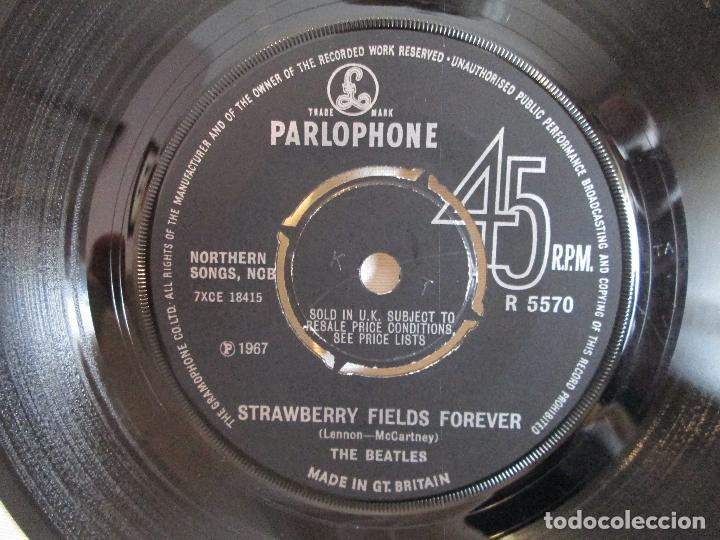 Discos de vinilo: Vinilo Single The Beatles ‎– Strawberry Fields Forever / Penny Lane, 1967, Made in GT. BRITAIN - Foto 4 - 192451426