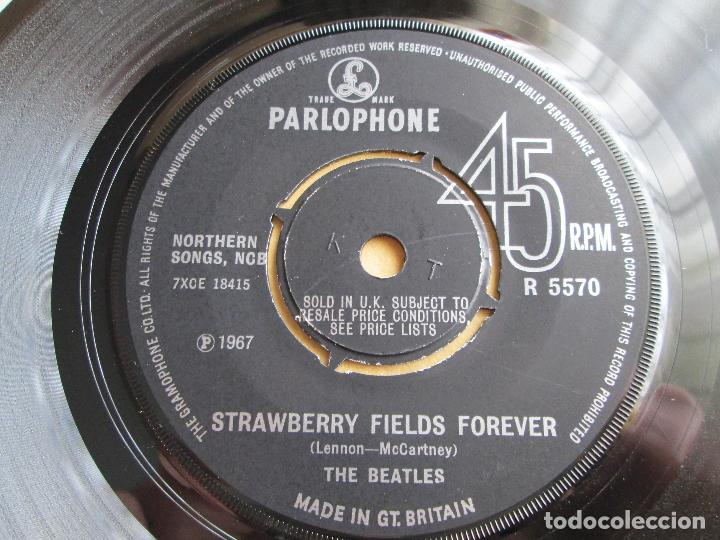 Discos de vinilo: Vinilo Single The Beatles ‎– Strawberry Fields Forever / Penny Lane, 1967, Made in GT. BRITAIN - Foto 5 - 192451426