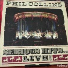 Discos de vinilo: PHIL COLLINS SERIOUS HITS LIVE - 2 LP - WEA GERMANY GATEFOLD . Lote 192463452