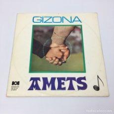 Disques de vinyle: LP - AMETS - GIZONA. Lote 192469273