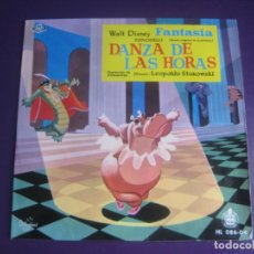 Discos de vinil: WALT DISNEY FANTASIA EP HISPAVOX 1960 - DANZA DE LAS HORAS - STOKOWSKI - CLASICA CINE ANIMACION. Lote 192472741
