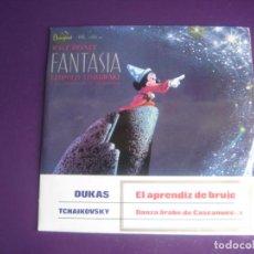 Disques de vinyle: WALT DISNEY FANTASIA EP HISPAVOX 1964 CASCANUECES TCHAIKOVSKI - STOKOWSKI - CLASICA CINE ANIMACION. Lote 192473056
