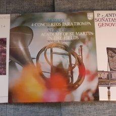 Discos de vinilo: MOZART, ANTONIO SOLER, GENOVEVA GALVEZ, HÄNDEL, CLAVE, TROMPA, LOTE LPS. Lote 213715107