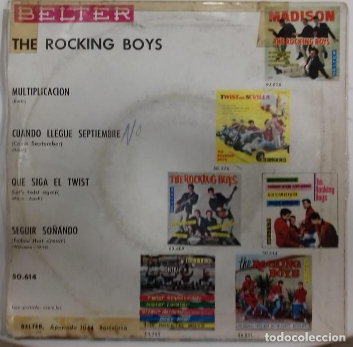 Discos de vinilo: THE ROCKING BOYS - MULTIPLICACION EP ED. ESPAÑOLA 1962 - Foto 2 - 192480635