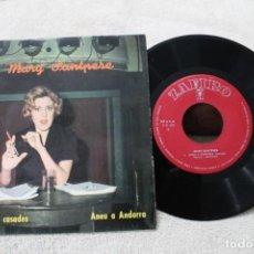 Discos de vinilo: MARY SANTPERE CONSELLS A LES CASADES SINGLE 1963. Lote 192490730