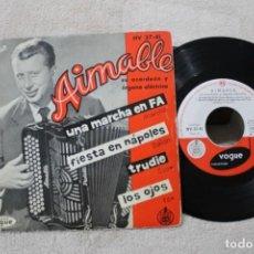 Discos de vinilo: AIMABLE EP UNA MARCHA EN FA 1959. Lote 192491272