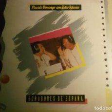 Discos de vinilo: PLACIDO DOMINGO CON JULIO IGLESIAS-SOÑADORES DE ESPAÑOL-EXPO 92 SEVILLA. Lote 192494352