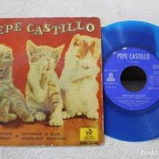 Discos de vinilo: PEPE CASTILLO Y SU ORQUESTA EP STORMY WEATHER +3 VINILO AZUL 1962. Lote 192494616