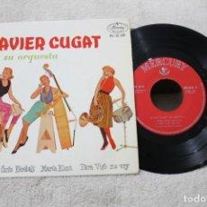 Discos de vinilo: XAVIER CUGAT Y SU ORQUESTA EP SIBONEY +3 1961. Lote 192494860