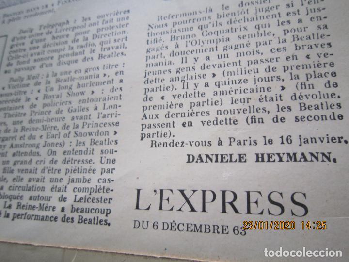 Discos de vinilo: LES BEATLES - Nº 1 LP - ORIGINAL FRANCES - ODEON RECORDS 1964 MONOAURAL - ORANGE LABEL - Foto 7 - 192497112