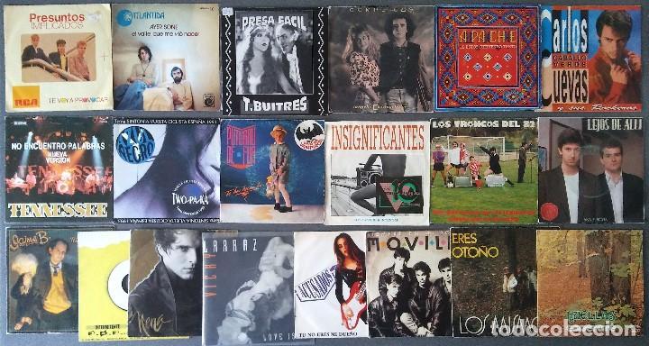 ESTUCHE VINILOS MUSICA ESPAÑOLA PRESUNTOS IMPLICADOS ATLÁNTIDA COMPLICES CARLOS CUEVAS TENNESSEE (Música - Discos - Singles Vinilo - Grupos Españoles de los 70 y 80)